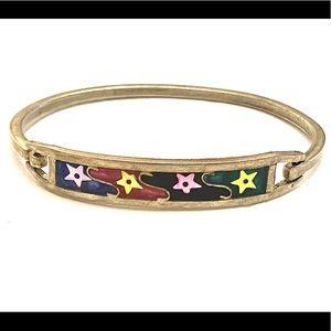 Vintage stars silver bracelet